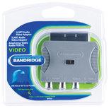 SCART-Adapter SCART Male - S-Video Female + 3x RCA Female