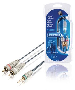 Stereo Audiokabel 3.5 mm Male - 2x RCA Male 10.00 m