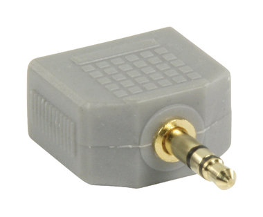 Stereo-Audio-Adapter 3.5 mm Male - 2x 3.5 mm Female