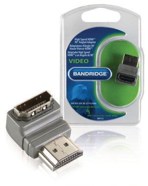 High Speed HDMI met Ethernet Adapter 90° Haaks HDMI-Connector - HDMI Female
