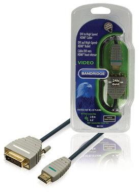 High Speed HDMI Kabel HDMI-Connector - DVI-D 24+1-Pins Male 2.00 m