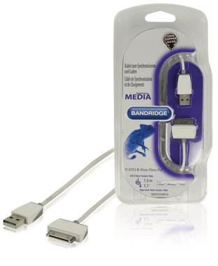Data en Oplaadkabel Apple Dock 30-Pins - USB A Male 1.00 m