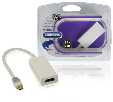 MHL Kabel USB Micro-B 5-Pins Male - HDMI Uitgang + USB-Micro-B Female 0.20 m