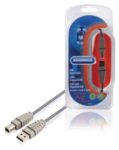 USB 2.0 Kabel USB A Male - USB-B Male Rond 4.50 m