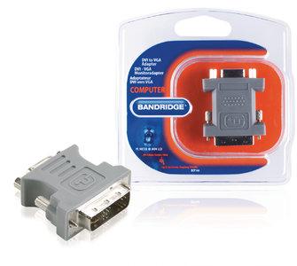 DVI-Adapter DVI-A 12+5-Pins Male - VGA Female 15-Pins