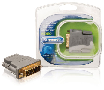 High Speed HDMI Adapter DVI-D 18+1-Pins Male - HDMI Female